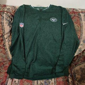 Men's New York Jets Nike Green Sideline Coaches Ha